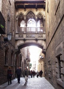 Route through the Gothic Quarter of Barcelona
