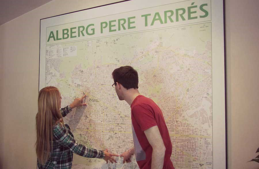 A tribute to the Youth Hostel Pere Tarrés map