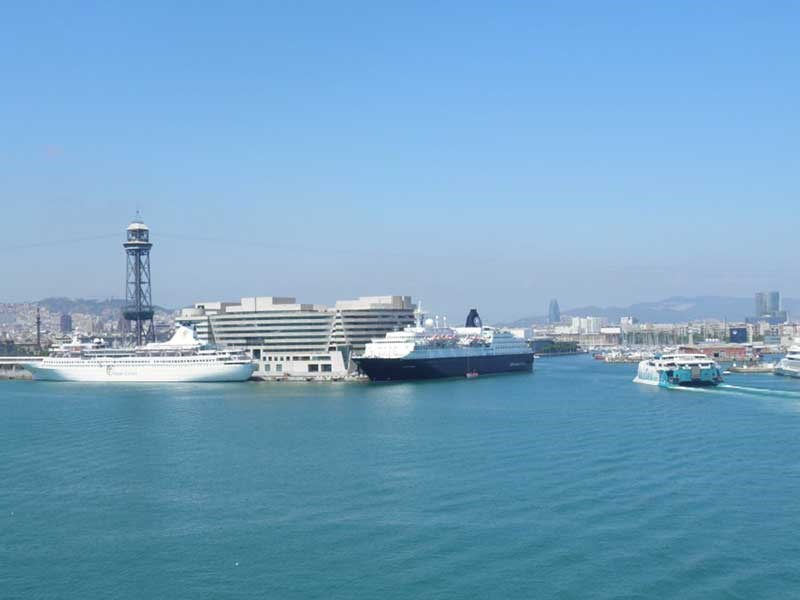 Arriving by cruise to Barcelona